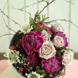 桃の節句の花飾り     2月サンプル作品のイメージ