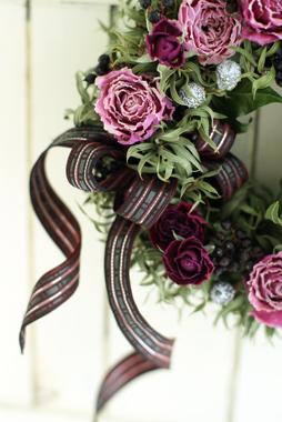 Christmas Wreath                       11月サンプル作品(2)