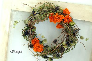 Autumn Wreath       9月サンプル作品(1)