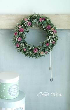 Christmas wreath 2014       11月サンプル作品(4)