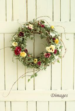 Early spring wreath       2月サンプル作品(1)