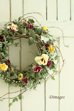 Early spring wreath       2月サンプル作品(2)