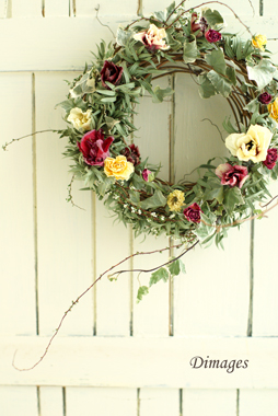 Early spring wreath       2月サンプル作品(3)