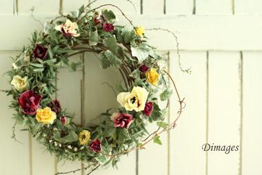 Early spring wreath       2月サンプル作品(4)