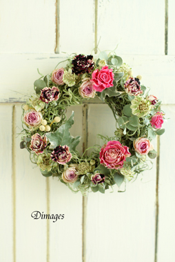 Mini wreath & Collage     4月サンプル作品(5)
