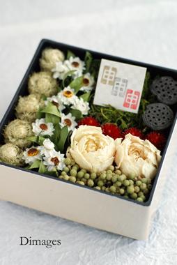 和飾り2015 花の二段重     12月サンプル作品     (3)