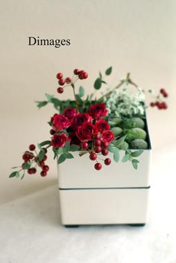 和飾り2015 花の二段重     12月サンプル作品     (5)