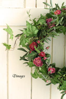 Spring wreath       4月サンプル作品(5)