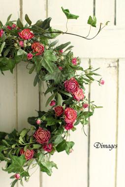 Spring wreath       4月サンプル作品(4)