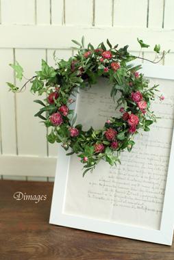 Spring wreath       4月サンプル作品(2)