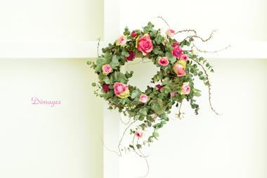 Spring Wreath      2月サンプル作品(1)