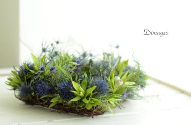 Square wreath      7月サンプル作品(2)